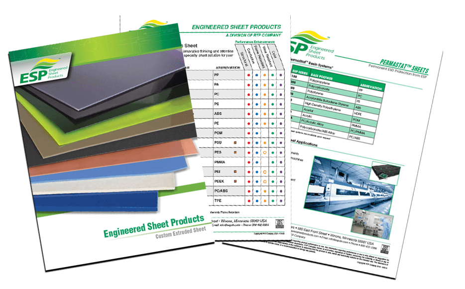Engineered Sheet Products (ESP) Literature